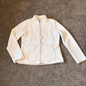 Merona - Small - zip-up Cream/white Fleece Jacket